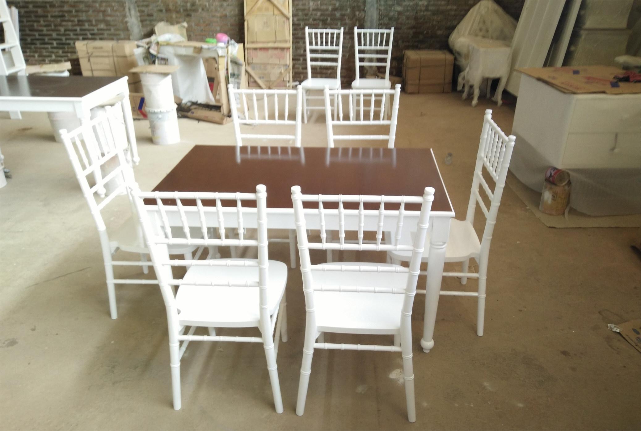 Set kursi makan tiffany putih murah