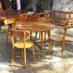 Set kursi cafe kayu jati vintage