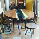 Kursi makan industrial meja suar wood