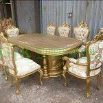 Set kursi makan ganesha warna gold