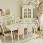 Set Kursi Makan Minimalis Mewah Duco Putih