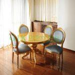 Set Kursi Makan Oval Emas