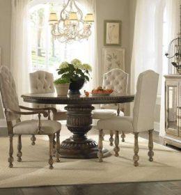 Set Meja Makan Bundar Kursi Sofa