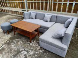 Set Sofa Tamu Sudut Mewah