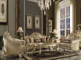 Set Sofa Mewah Jati Klasik Modern